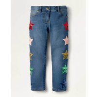 Embellished Sequin Star Jeans Denim Girls Boden, Denim