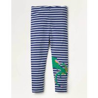 Fun Appliqué Leggings Navy Girls Boden, Blue