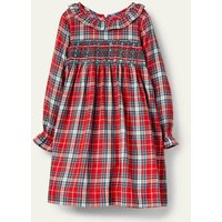 Check Smocked Dress Rockabilly Red and Pink Check Girls Boden, Rockabilly Red and Pink Check