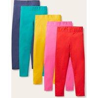 5-Pack Leggings Multi Rainbow Girls Boden, Multi Rainbow