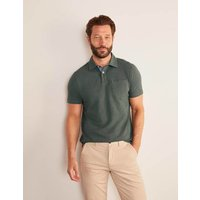 Slub Polo Green Men Boden, Green