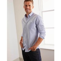 Boden Slim Fit Poplin Pattern Shirt Blue Christmas Boden, Blue