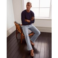 Brushed Cotton Pyjama Bottoms Grey Boden, Blue
