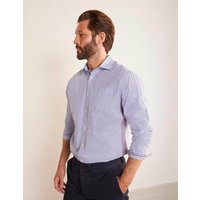 Boden Poplin Pattern Shirt Blue Men Boden, Blue