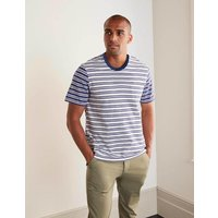 Boden Hotchpotch Stripe Tee Hotchpotch Navy Blue/Ecru Men Boden, Blue