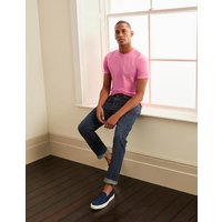Boden Washed T-shirt Berry Sorbet Pink Men Boden, Pink