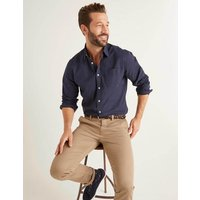 Poplin Cutaway Collar Shirt Navy Men Boden, Navy