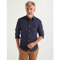 Slim Fit Poplin Cutaway Collar Navy Men Boden, Navy