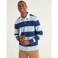 Hutchins Rugby Shirt Blue Men Boden, Blue