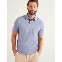 Slub Polo Blue Men Boden, Blue