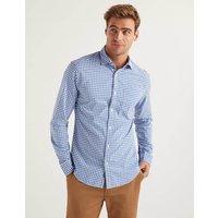 Poplin Pattern Shirt Blue Men Boden, Blue