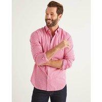 Slim Fit Poplin Pattern Shirt Pink Gingham Men Boden, Pink Gingham