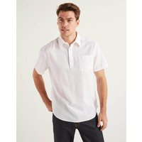 Linen Cotton Popover White Men Boden, White