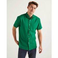 Boden Malton Short Sleeve Shirt Green Men Boden, Green