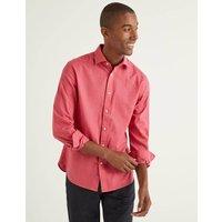 Linen Cotton Shirt Pink Men Boden, Pink