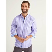 Boden Slim Fit Poplin Stripe Shirt Purple Men Boden, Blue