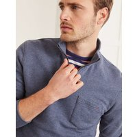 Linton Half-Zip Sweatshirt Navy Marl Men Boden, Navy