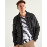 Cavendish Suede Jacket Charcoal Men Boden, Black