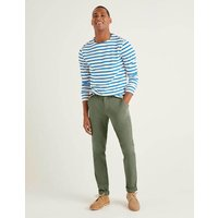 Lightweight Slim Chinos Green Men Boden, Khaki