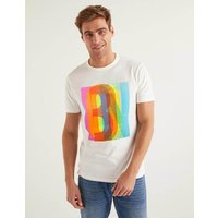 Graphic T-shirt Ivory Men Boden, Ivory