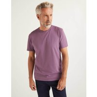 Washed T-shirt Purple Men Boden, Purple