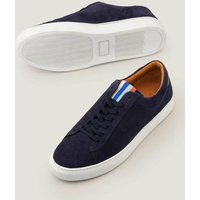 Leather Trainers Navy Men Boden, Navy