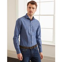 Boden Slim Fit Pattern Shirt Navy Men Boden, Navy