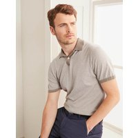 Stripe Knitted Polo Brown Men Boden, Beige