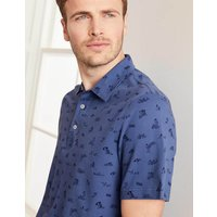 Boden Fun Piqué Polo Navy Men Boden, Blue