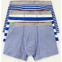 3 Pack Jersey Boxers Regal Blue Mix Stripe Pack Men Boden, Blue