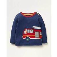Transport Applique T-shirt Blue Baby Boden, Blue