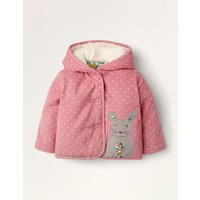 Cord Applique Coat Pink Baby Boden, Pink