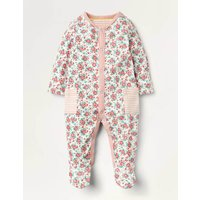 Supersoft Printed Sleepsuit Ivory Baby Boden, Ivory