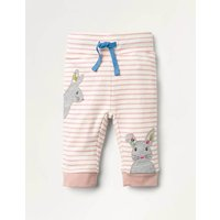 Applique Jersey Bottoms Pink Baby Boden, Ivory