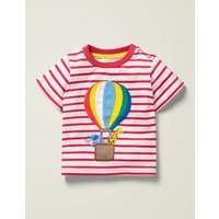 Lift-the-Flap T-shirt Red Boys Boden, White