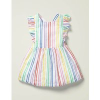 Rainbow Stripe Pinafore Multi Girls Boden, Multicouloured