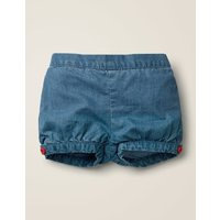 Chambray Bloomers Denim Baby Boden, Blue