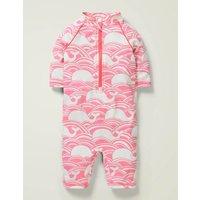Sunsafe Surfsuit Pink Girls Boden, Pink