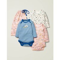 3 Pack Bodies Pink Baby Boden, Multicouloured