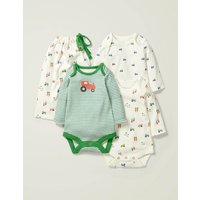 3 Pack Bodies Multi Baby Boden, Multicouloured
