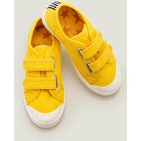 Double Strap Canvas Shoes Yellow Boys Boden, yellow.