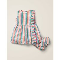 Woven Ruffle Dress Multi Baby Boden, Multicouloured