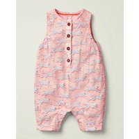Printed Woven Playsuit Boto Pink Leaping Leopard Baby Boden, Boto Pink Leaping Leopard