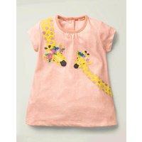 Big Appliqué Jersey Dress Pink Baby Boden, Pink