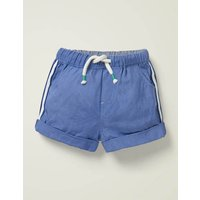 Baby Woven Pull-on Shorts Blue Baby Boden, Blue