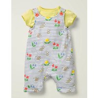 Printed Jersey Dungaree Set Multi Baby Boden, Multicouloured