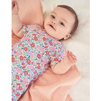Twin Pack Jersey Rompers Pink Baby Boden, Multicouloured
