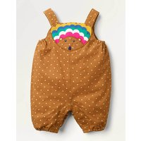 Hedgehog Cord Dungarees Brown Baby Boden, Brown