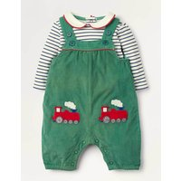 Smart Dungaree Set Green Baby Boden, Green