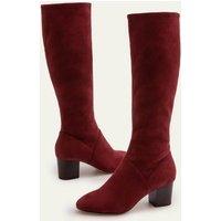 Round Toe Stretch Boots Maroon Women Boden, Maroon